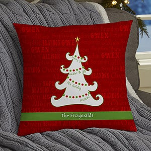 personalized throw pillows christmas tree 13795