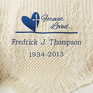 Personalized Memorial Afghan - Forever In Our Hearts - 13802