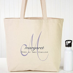 Personalized Tote Bags - Name Meaning Monogram