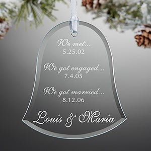 Personalized Glass Christmas Ornaments - Special Dates