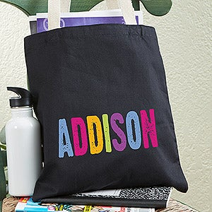 Personalized Kids Tote Bags - Hands Off - 13822