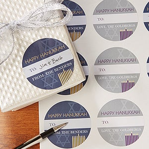 Personalized Hanukkah Gift Stickers - 13834