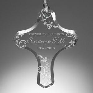 Personalized Memorial Christmas Ornaments - In Loving Memory Cross - 13835