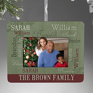 Personalized Christmas Ornament Mini-Frame - Loving Family - 13842