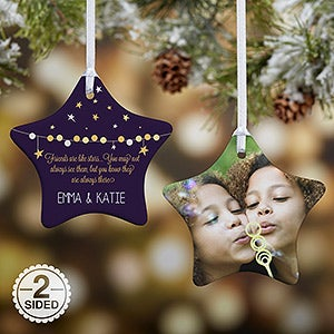 personalized christmas ornaments friends are like stars 2 sided