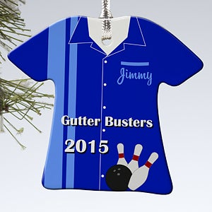 Personalized Christmas Ornaments - Bowling T-Shirt - 13861