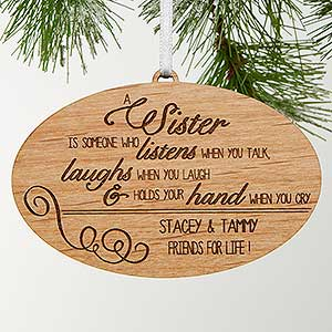 Personalized Christmas Ornaments - Special Sister
