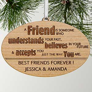 engraved christmas ornaments forever friend 13874 - Best Friend Christmas Ornaments