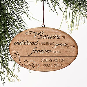 Personalized Family Christmas Ornaments - Special Cousin - 13876