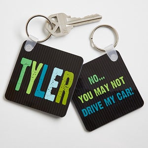 Personalized Kids Key Rings - Hands Off - 13898
