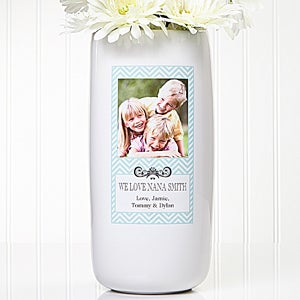 Personalized Photo Vase - Chevron Class - 13906