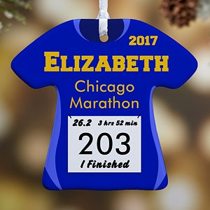 Personalized Christmas Ornaments - Race Day Running Bib - 13929