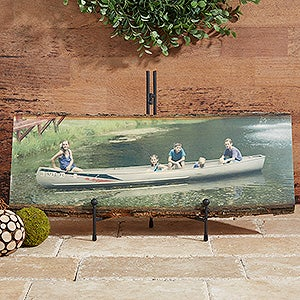 Personalized Rustic Basswood Photo Plaques - Picture Perfect - 13950