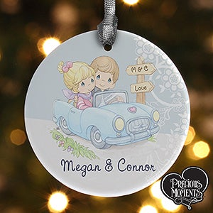 Personalized Christmas Ornaments - Precious Moments Romantic Couple - 13964