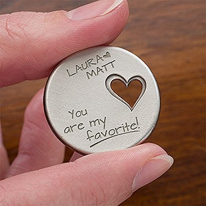 Personalized Pocket Token - Couple In Love - 13968