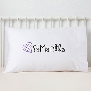 Personalized Girls Pillowcase - Loving Name - 13975