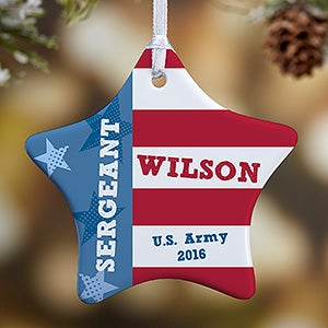 Personalized Christmas Ornaments - All American Flag - 13979