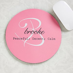 personalized mouse pads name meaning
