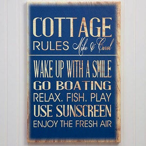 Personalized Canvas Prints - Beach House Rules - 13986