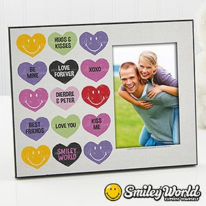 Personalized Smiley Face Picture Frames - Loving Hearts - 14012