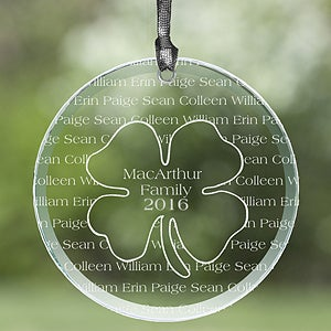 Personalized Suncatchers - Irish Family Four Leaf Clover - 14014
