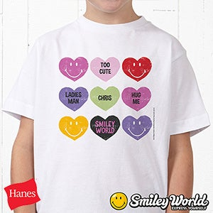 Personalized Kids Clothing - Smiley Face Hearts - 14016