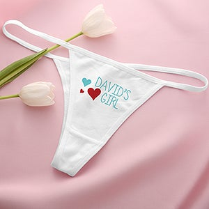 Personalized Thong Underwear - My Girl - 14020