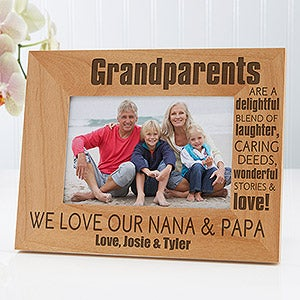 Personalized Wood Picture Frames - Wonderful Grandparents - 14021