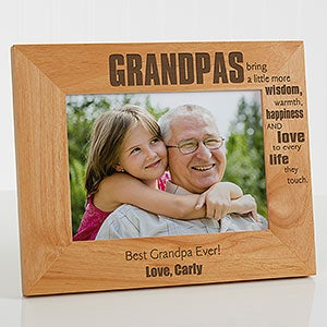 Personalized Grandpa Picture Frames - Wonderful Grandpa - 14026