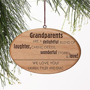 Personalized Christmas Ornaments - Wonderful Grandparent - 14027