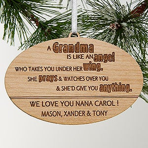 Personalized Grandparent Ornaments - Wonderful Grandma - 14028