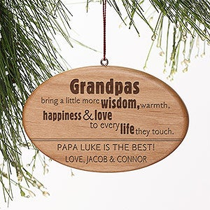 Personalized Grandparent Ornaments - Wonderful Grandpa - 14029