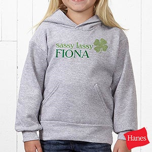 Personalized Four Leaf Clover Apparel - Born Lucky - 14055