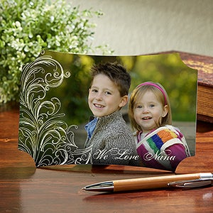 Personalized Tabletop Photo Plaque - Just For Her - 14067
