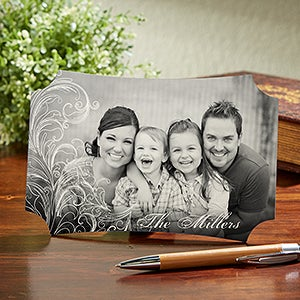 Personalized Photo Tabletop Plaque - Family Bond - 14077
