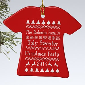 Personalization Mall Personalized Christmas Ornaments - Ugly Holiday Sweater at Sears.com