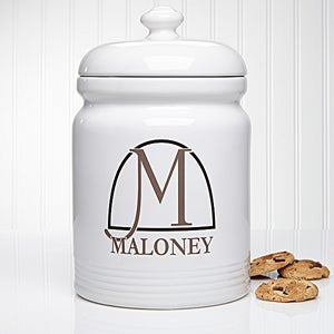personalized cookie jar monogram elegance