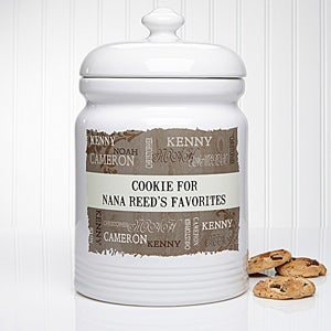 personalized cookie jars our loving family