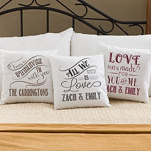 Throw Pillows Quilted : Pillow Love Couple Quotes. QuotesGram
