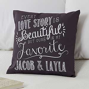 Personalized Throw Pillows - Romantic Love Quotes - 14128