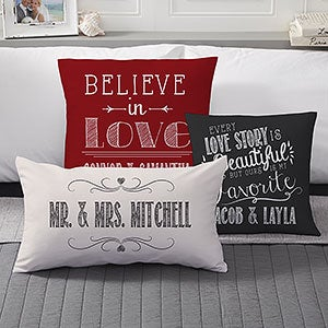 Personalized Throw Pillows Romantic Love Quotes