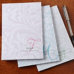 Personalized Stationery Notepads Name Meaning