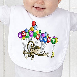 Personalization Mall Personalized Baby Bibs - Floating Zoo Animals at Sears.com