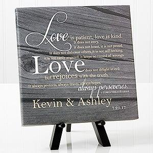 Personalized Desktop Canvas Prints - Love Is Patient - 14186