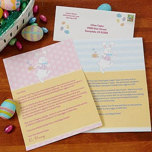 Personalized Easter Bunny Letter - 14197