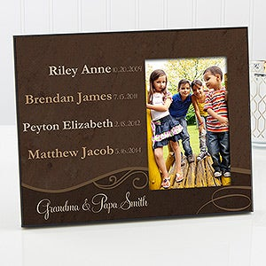 Personalized Grandparent Picture Frames - My Grandkids - 14220
