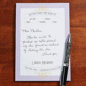 Personalized Notepads - From the Mom Of - 14225