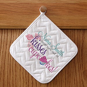 Personalized Apron & Potholder Set - Kisses & Cupcakes - 14232
