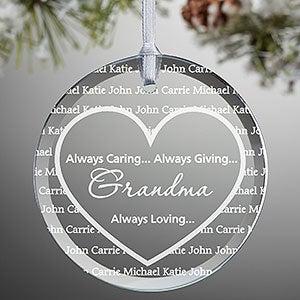 Personalized Suncatchers - Grandma's Sweethearts - 14234