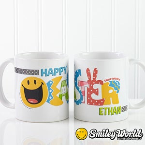 Personalized Easter Coffee Mugs - Smiley Face - 14247
